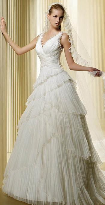 vestidos de novia. Despampanante vestido de novia