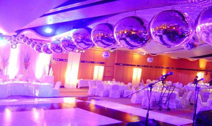 If they are looking for wedding decor disco air there like the one pictured