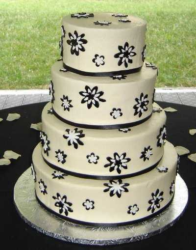 This model is a 4story wedding cake where you have used black and white