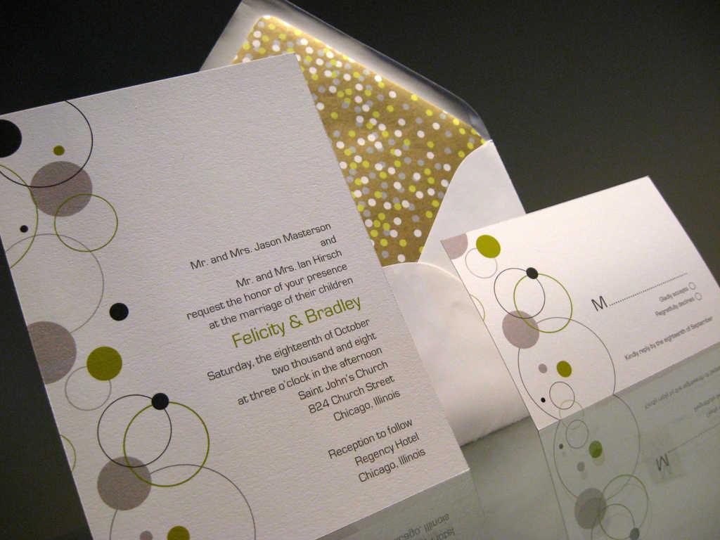 Invitaciones modernas de la boda